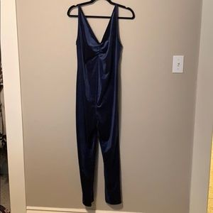 Free People Pants - Free People Meow Catsuit Blue Velvet